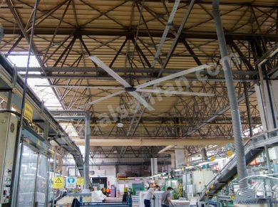 endüstiriyel alan tavan vantilatörü