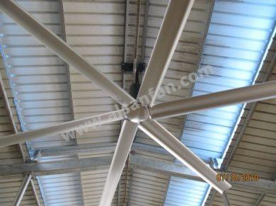Depo Tavan Vantilatörleri, Depo Tavan Fanları Uygulaması