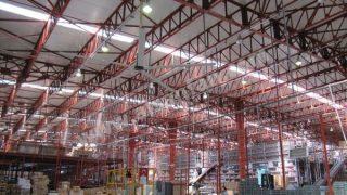 Fabrika Tavan Vantilatörleri, Fabrika Tavan Fanları Uygulaması