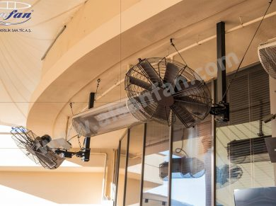restaurant pivot fan