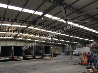 Logistic area big ceiling fans