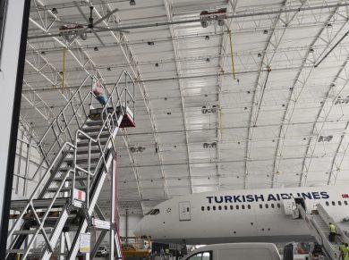 Endüstriyel & Fabrika Tavan Vantilatörü (THY Hangar)