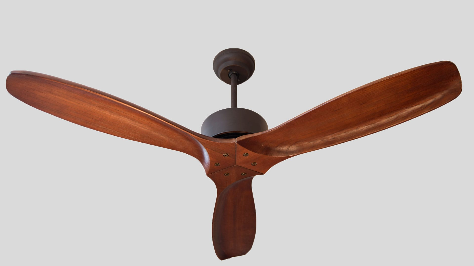 Profan Hardwood - Brown, Without Light Ceiling Fan