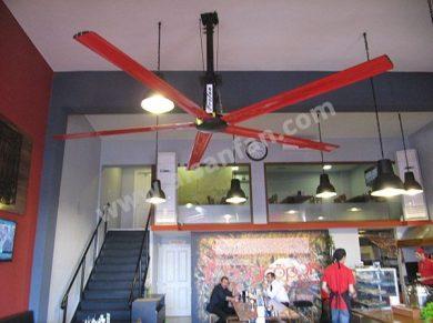 Cafe Tavan Vantilatörleri, Cafe Tavan Fanları Uygulaması