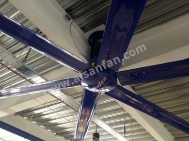 Industrial Warehouse Ceiling Fans Applications, Industrial Warehouse HVLS Fans Applications