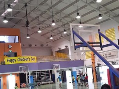 Sports Halls Ceiling Fans Applications, Sports Halls HVLS Fans Applications